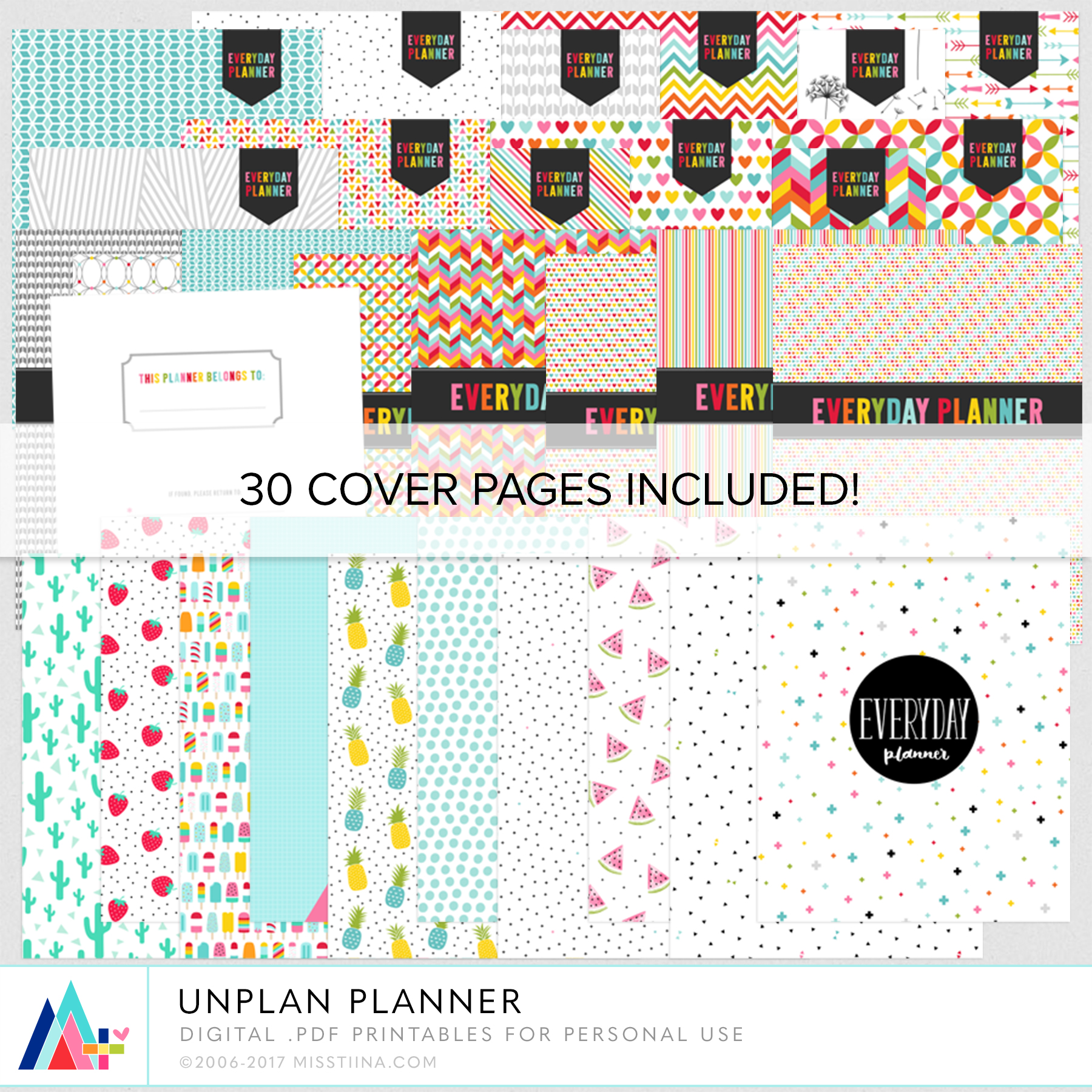 UNplan Planner Pages By Miss Tiina