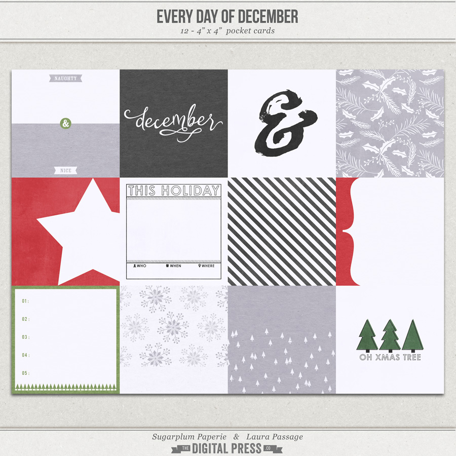Every Day of December | 4x4 Cards