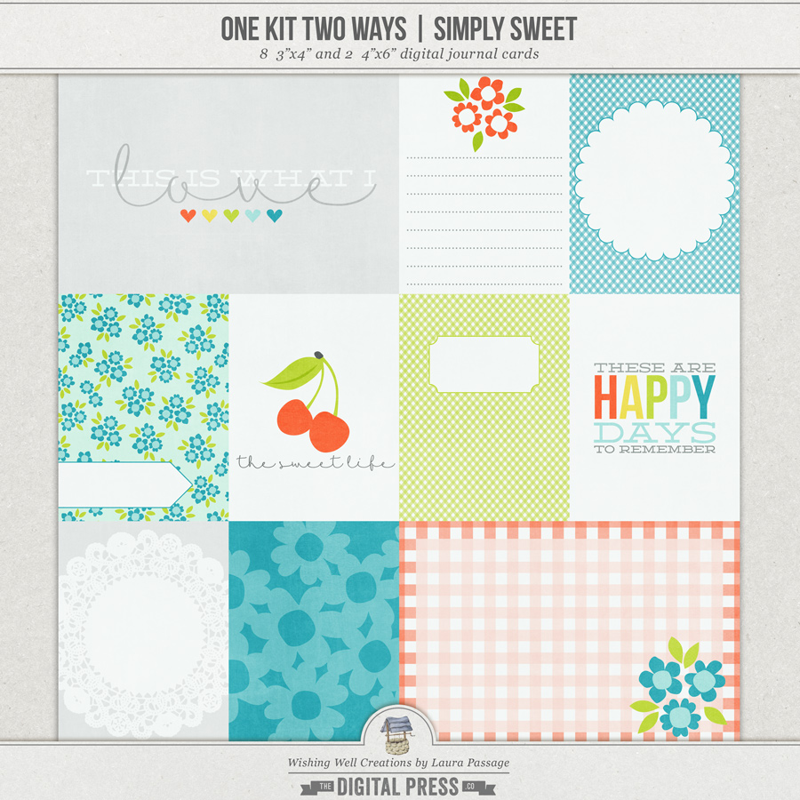 One Kit Two Ways: Simply Sweet | Journal Cards