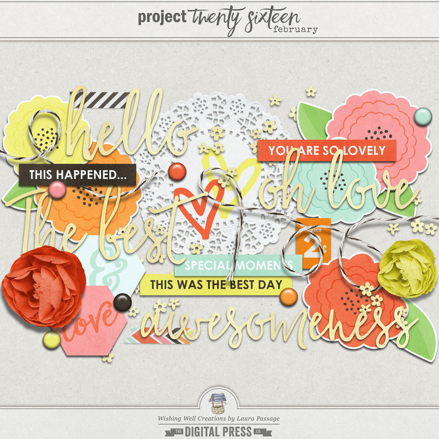 Project Twenty Sixteen | February Elements