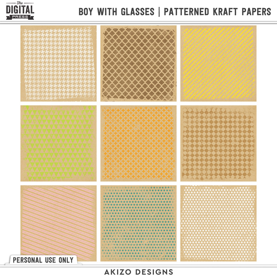 Patterned Kraft Papers