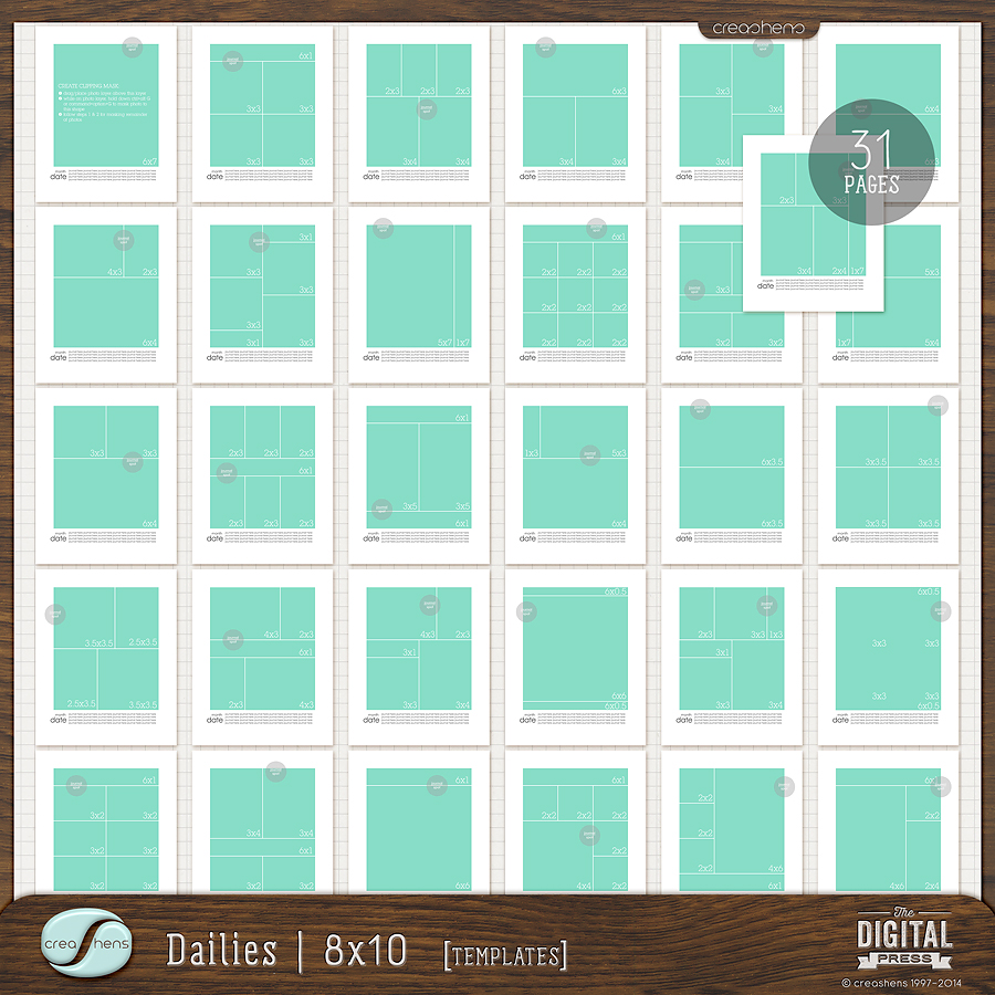 Dailies 8x10 templates for 8x10 bedroom furniture layout