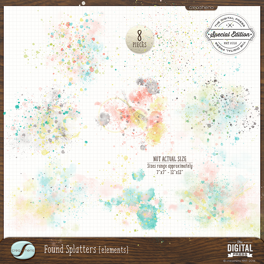 Found Splatters available separately