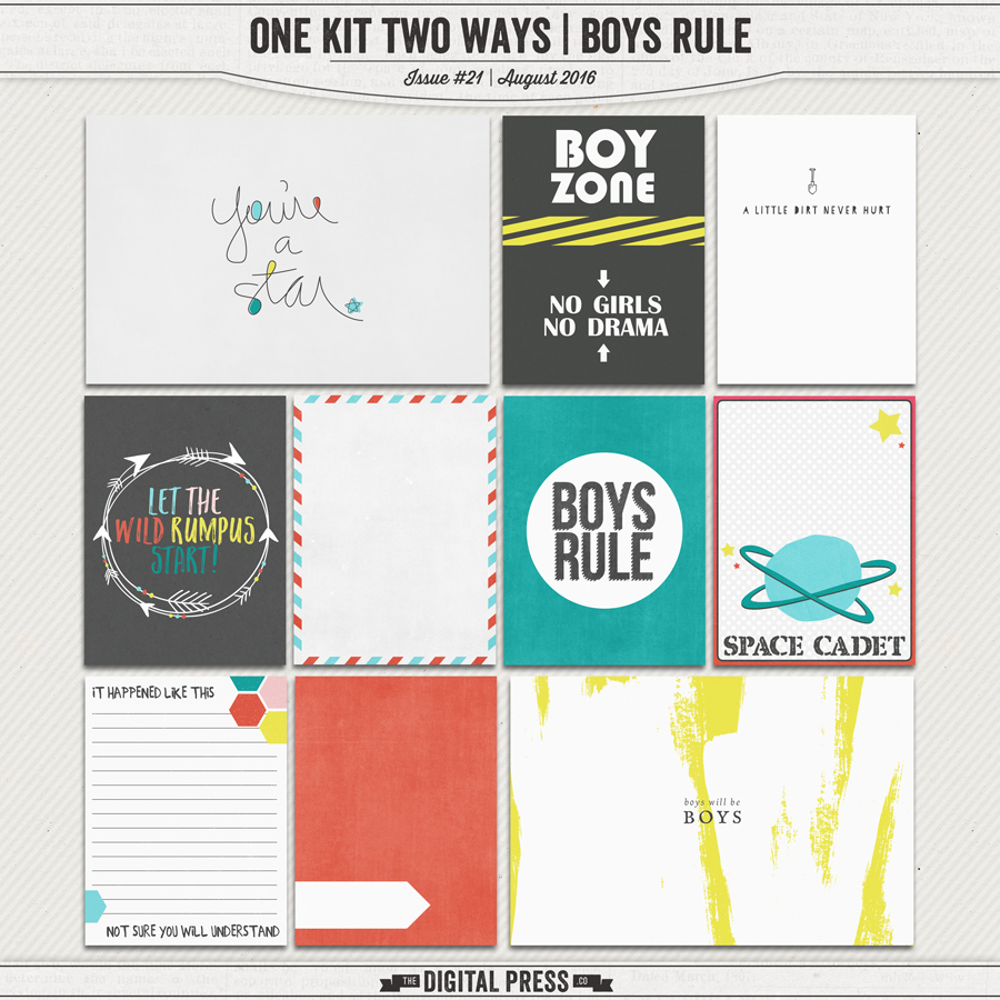 One Kit Two Ways | Boys Rule Pocket Cards