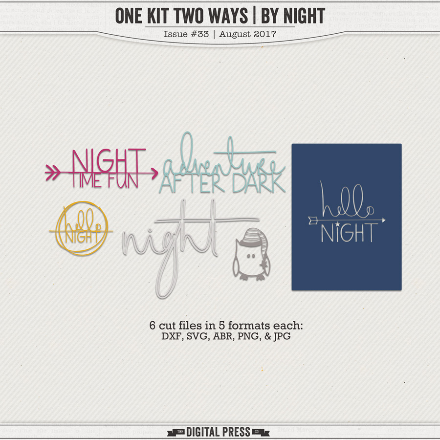 One Kit Two Ways | By Night Hybrid Cut Files