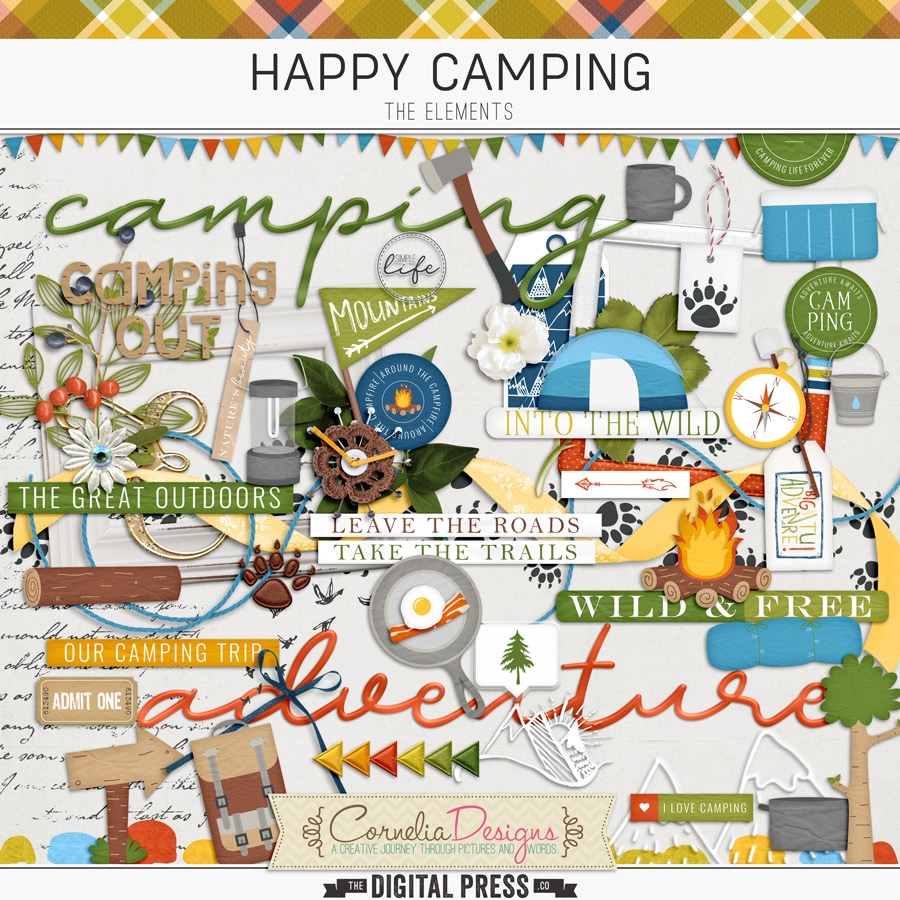 HAPPY CAMPING   ELEMENTS