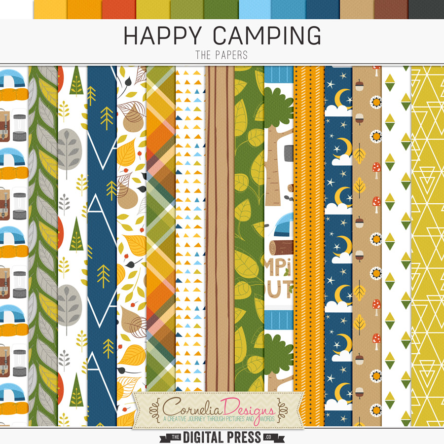 HAPPY CAMPING   PAPERS