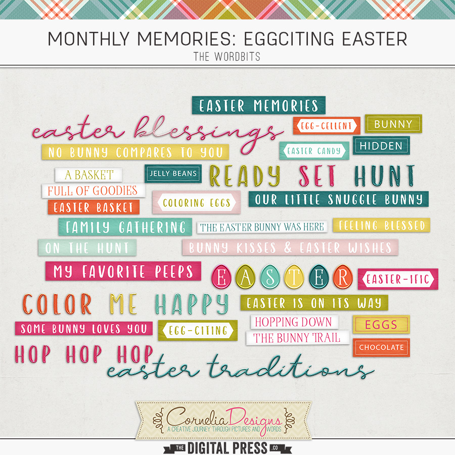 MONTHLY MEMORIES: EGGCITING EASTER| WORDBITS