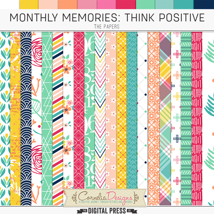 MONTHLY MEMORIES: THINK POSITIVE| PAPERS
