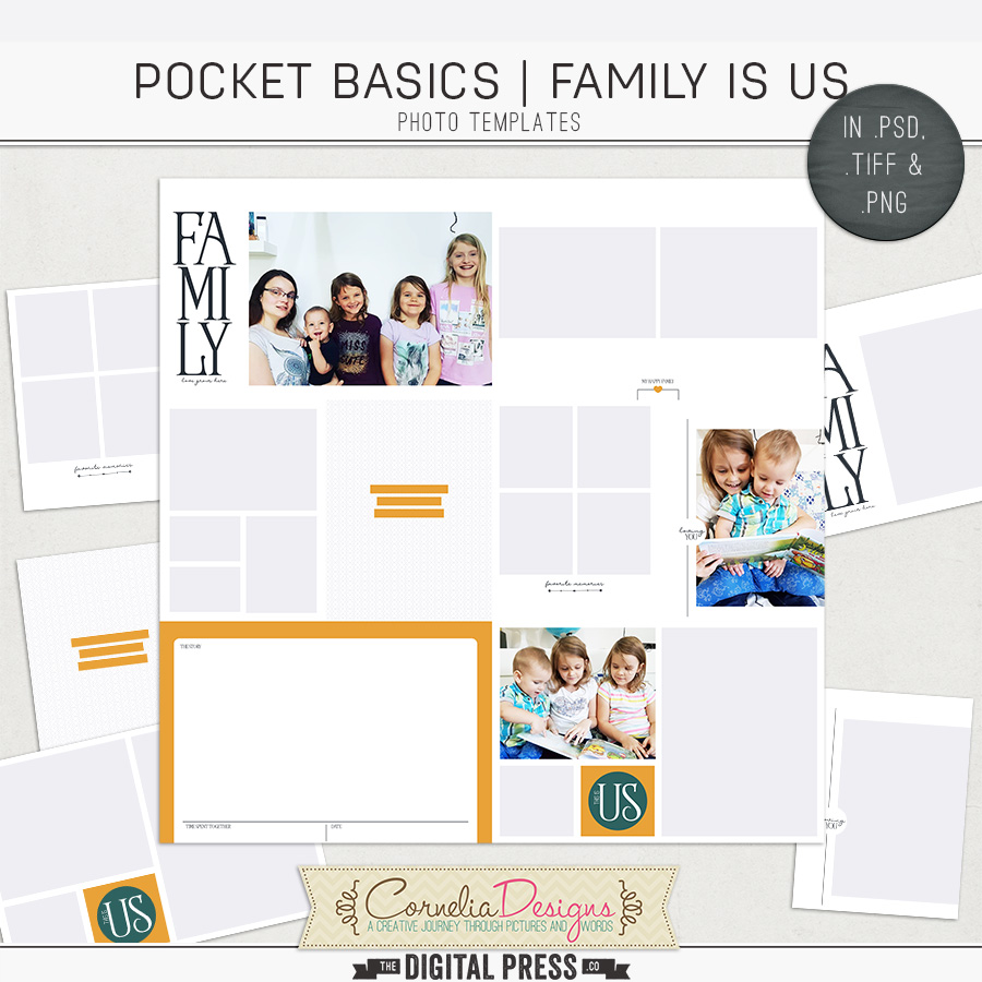 POCKET BASICS: FAMILY IS US | PHOTO TEMPLATES
