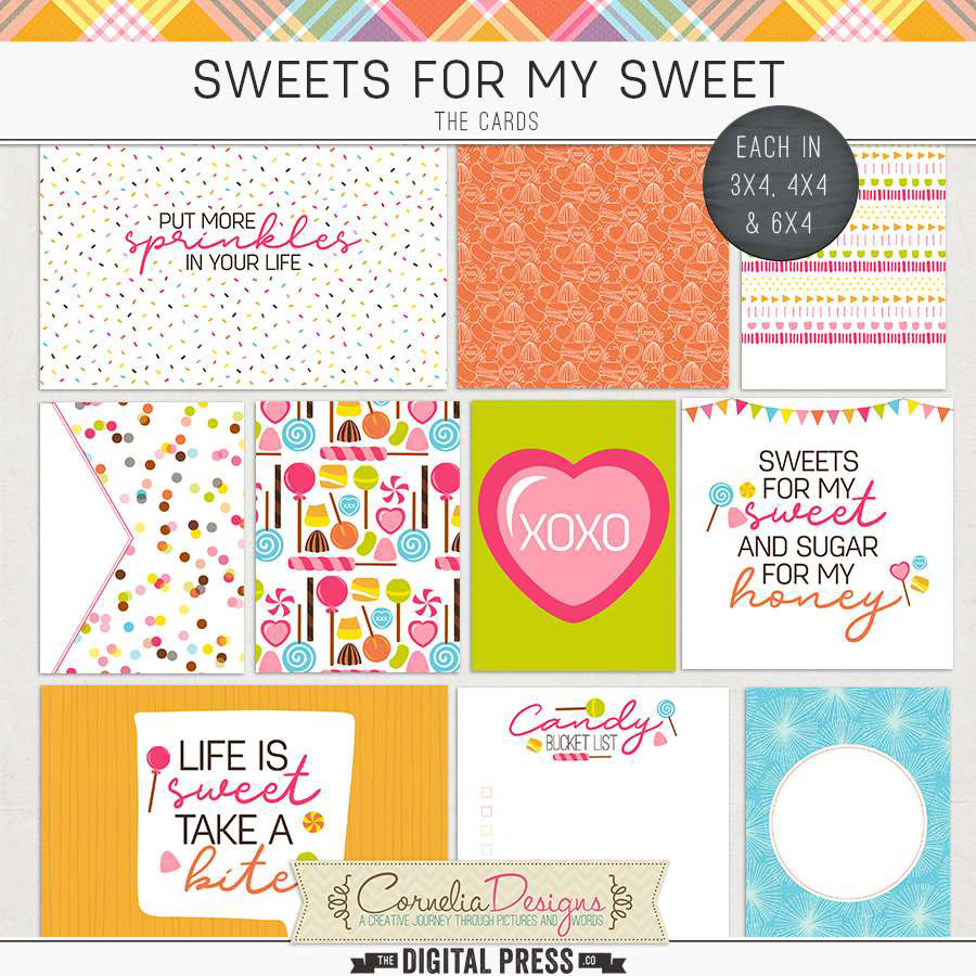 SWEETS FOR MY SWEET | POCKET CARDS