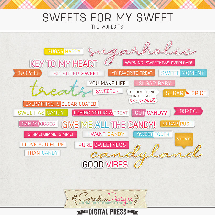 SWEETS FOR MY SWEET   WORDBITS