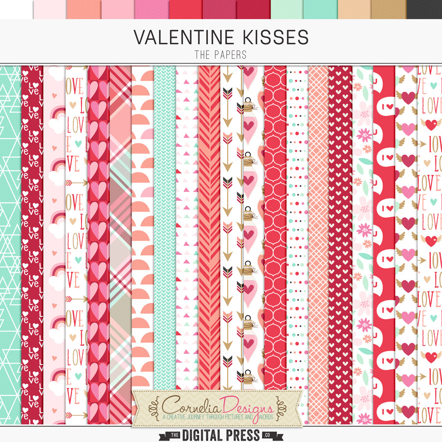 VALENTINE KISSES | PAPERS