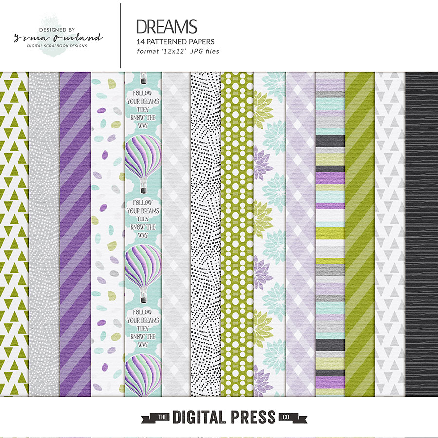 Dreams - patterned papers