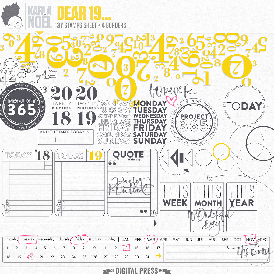 Dear 19... | stamp sheet