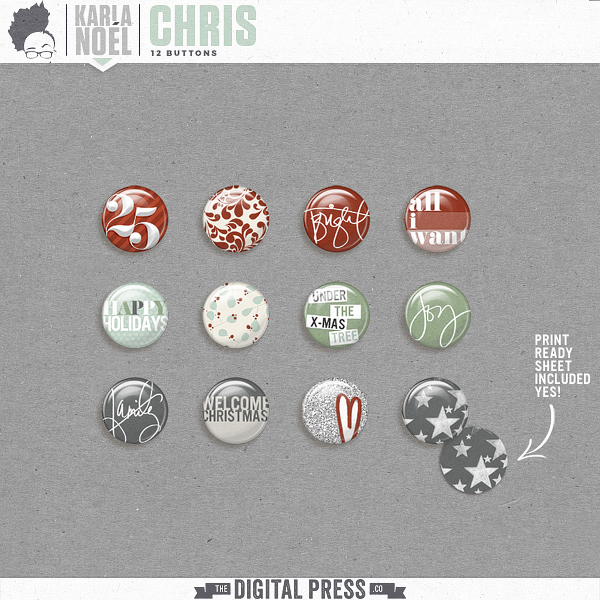 Holiday 2017 | Chris | buttons