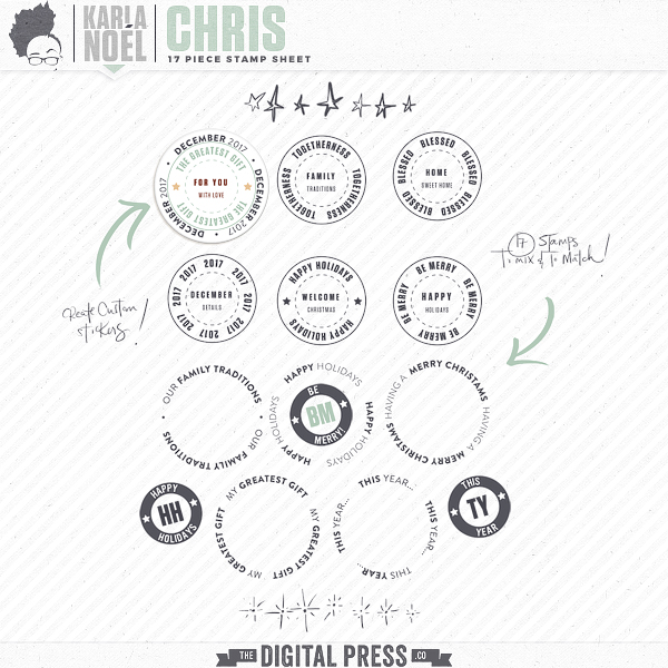 Holiday 2017 | Chris | stamp sheet