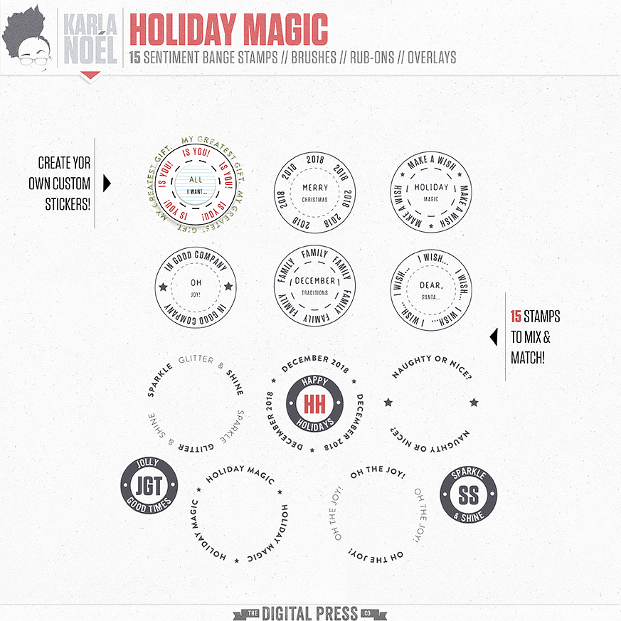 Holiday Magic | badge stamps