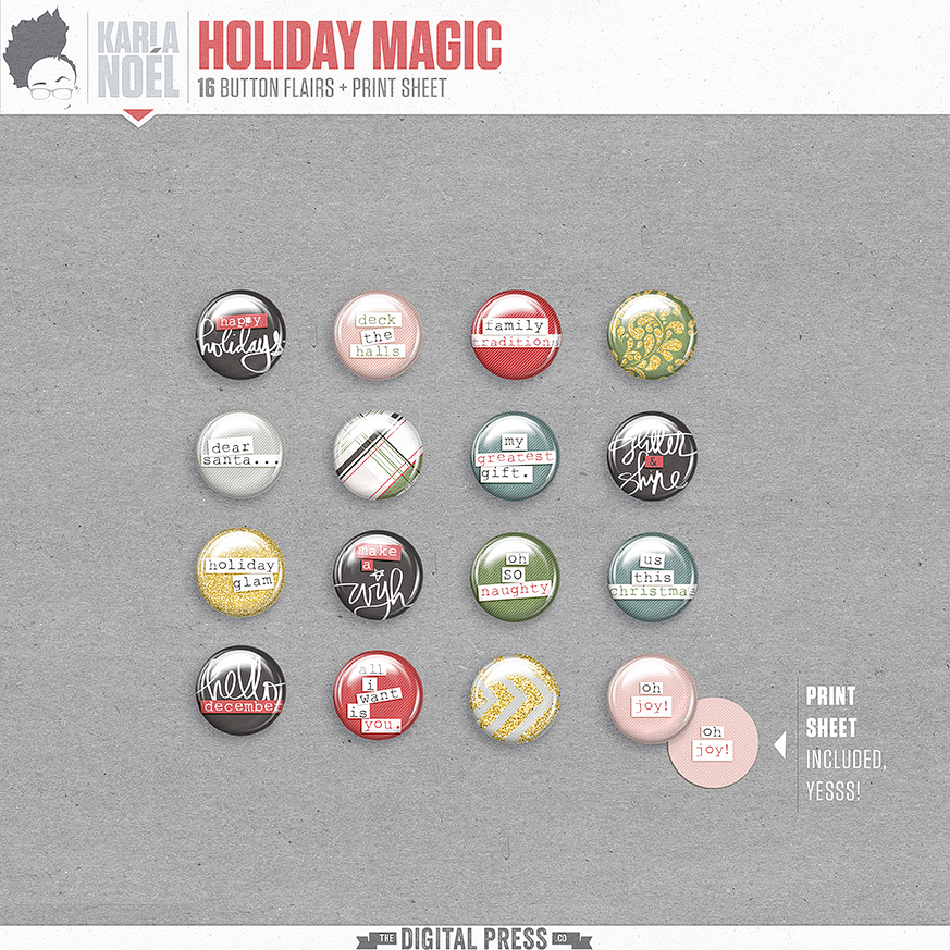 Holiday Magic | buttons