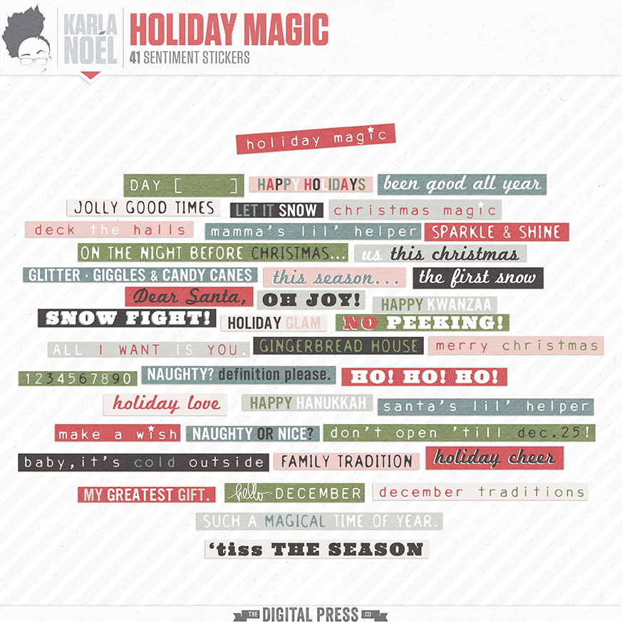 Holiday Magic | word stickers