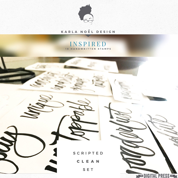 Scripted : Inspired | stamps | clean