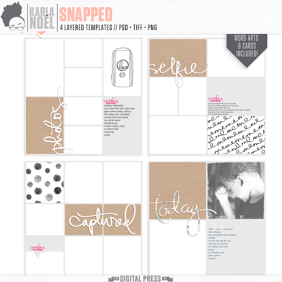 Snapped | Templates 12x12