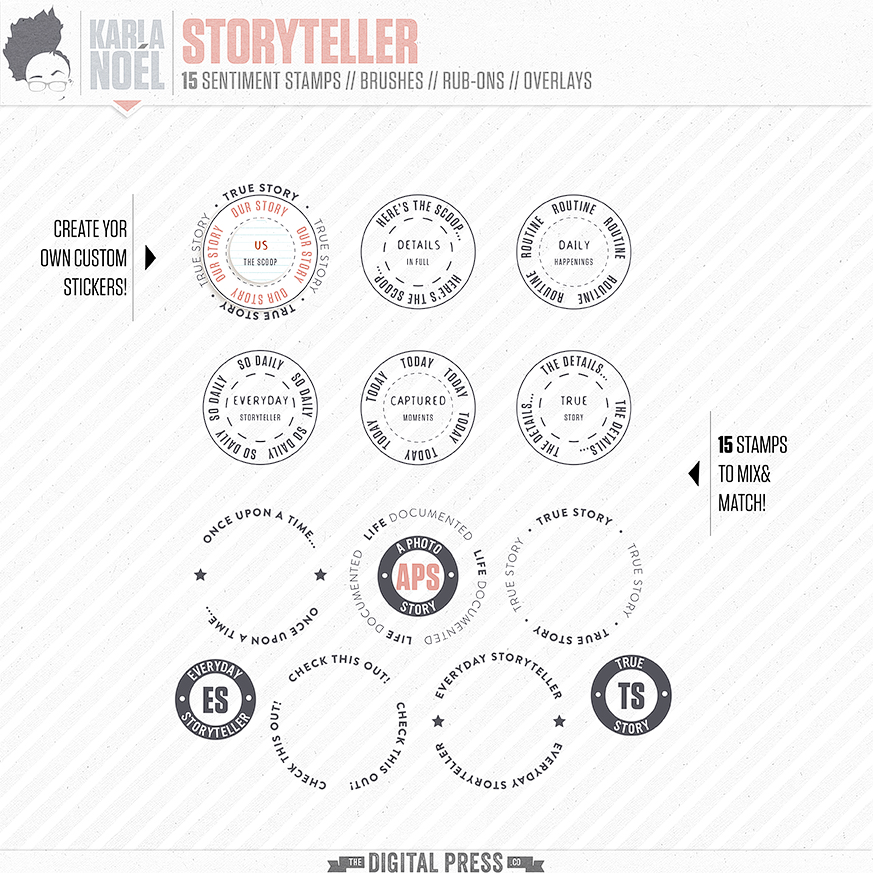Storyteller | badge stamps