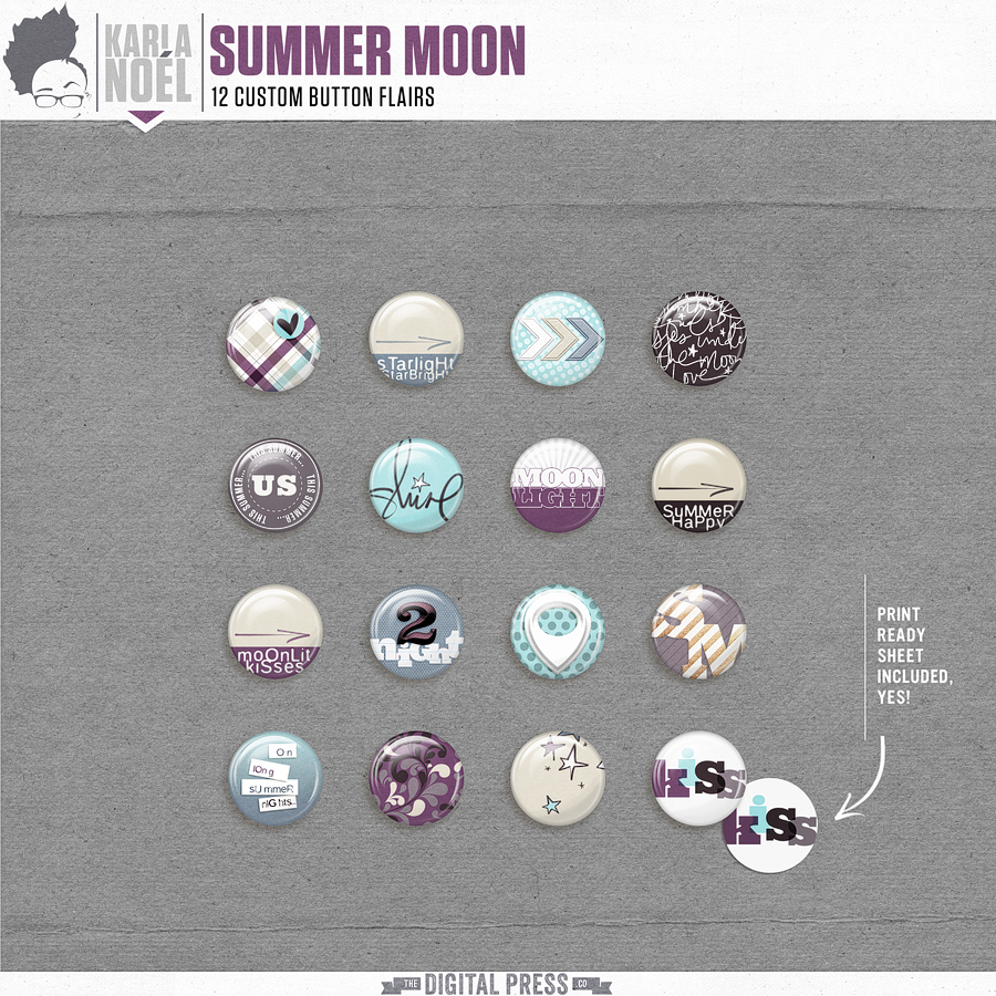 Summer Moon - buttons