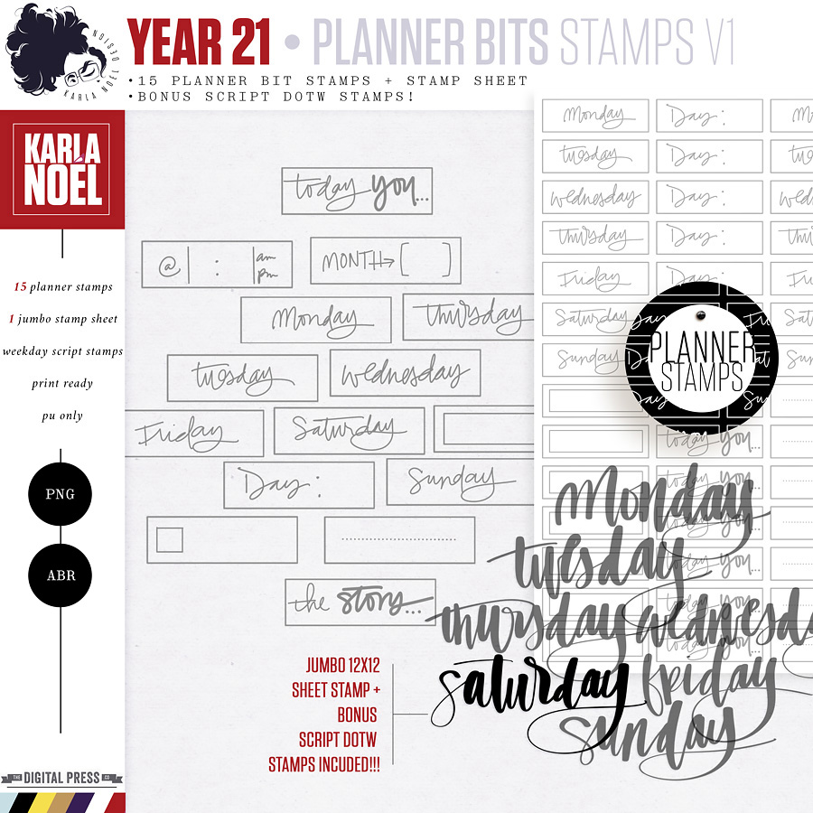 Year 21 | Planner Bits Stamps 1