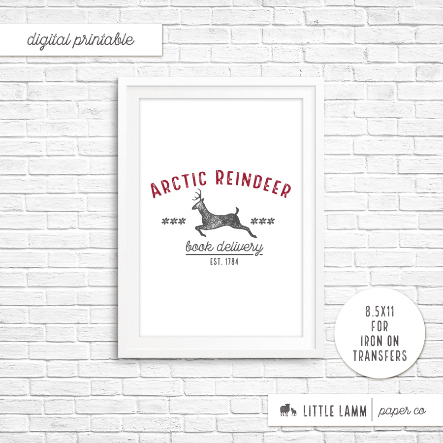 Arctic Reindeer Book Delivery│Printable Home Decor