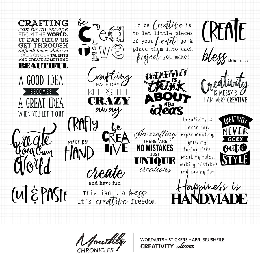 Monthly Chronicles | Creativity Word Arts