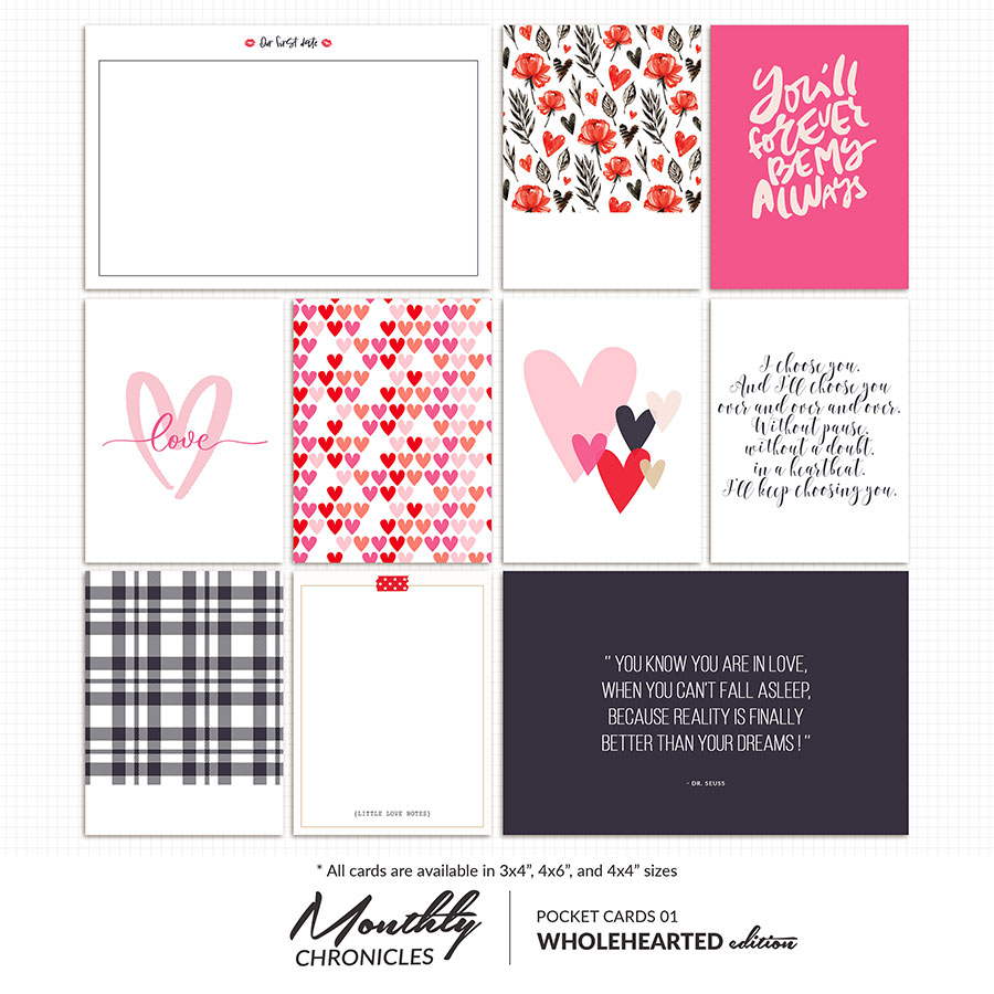 Monthly Chronicles | Wholehearted Pocket Cards 01