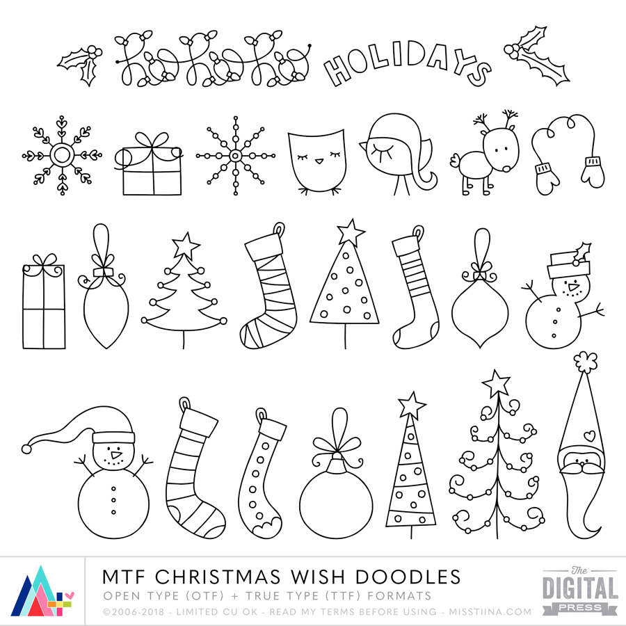 MTF Christmas Wish Doodles