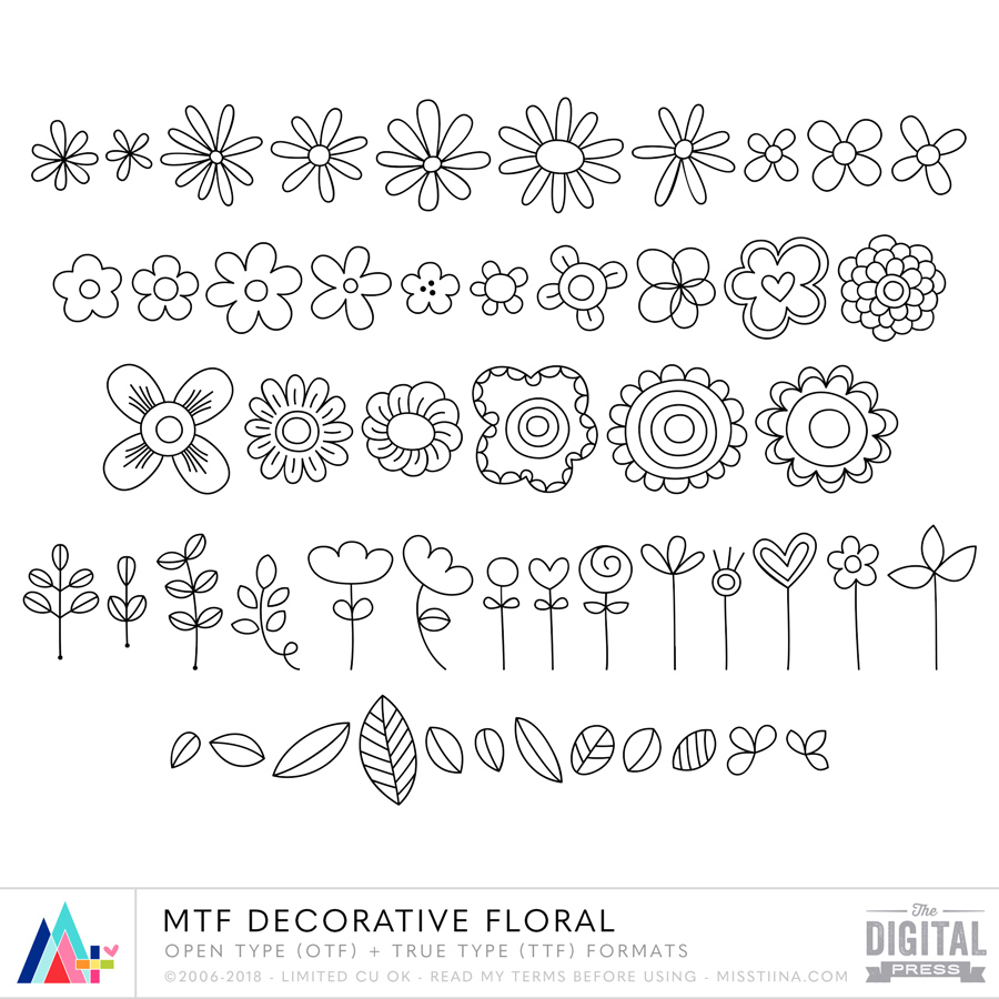 MTF Decorative Floral