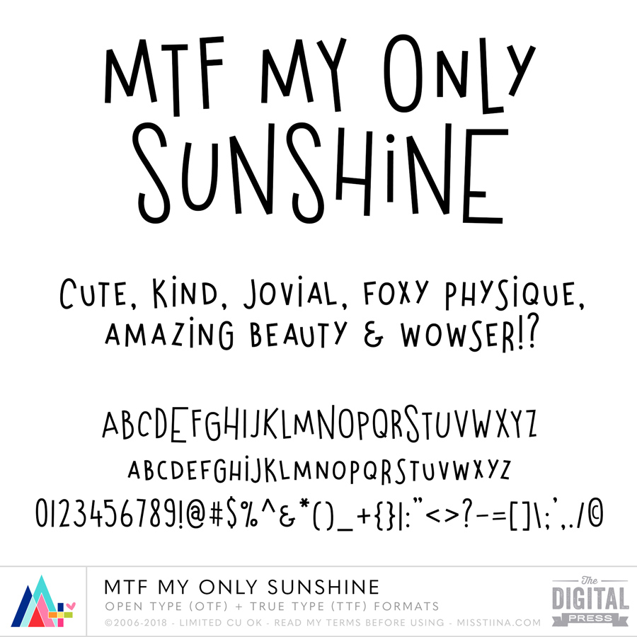 MTF My Only Sunshine