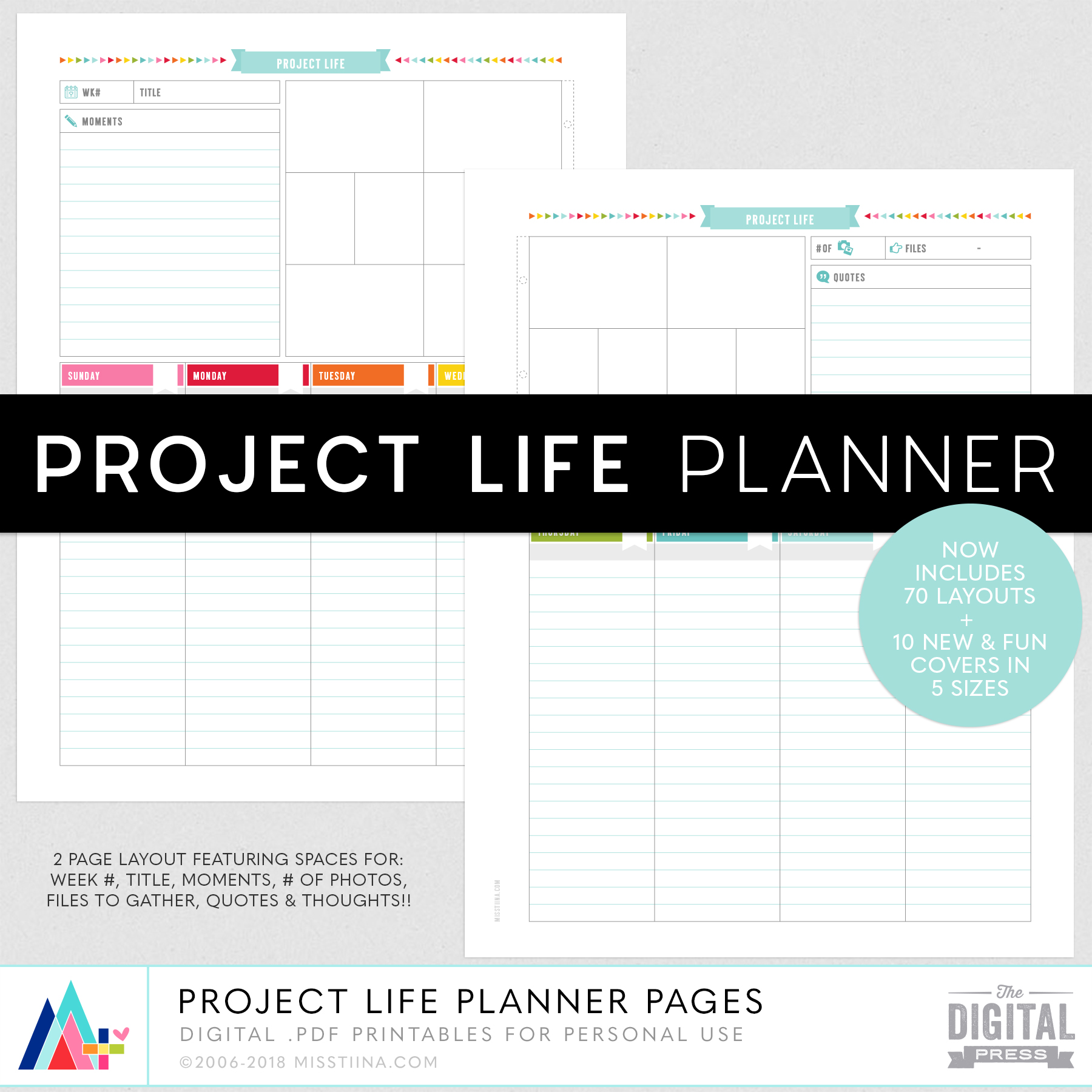 Project Life Layout Planner