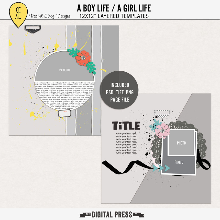 A Boy Life / A Girl Life | Layout Templates