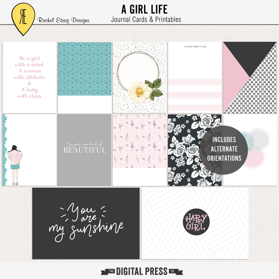 A Girl Life | Journal Cards