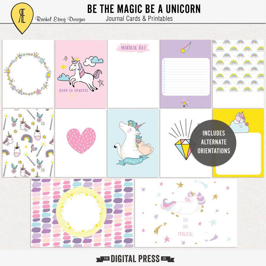 Be The Magic Be A Unicorn | Journal Cards