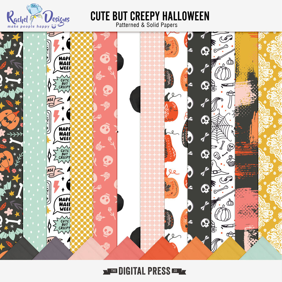 Cute But Creepy Halloween   Papers