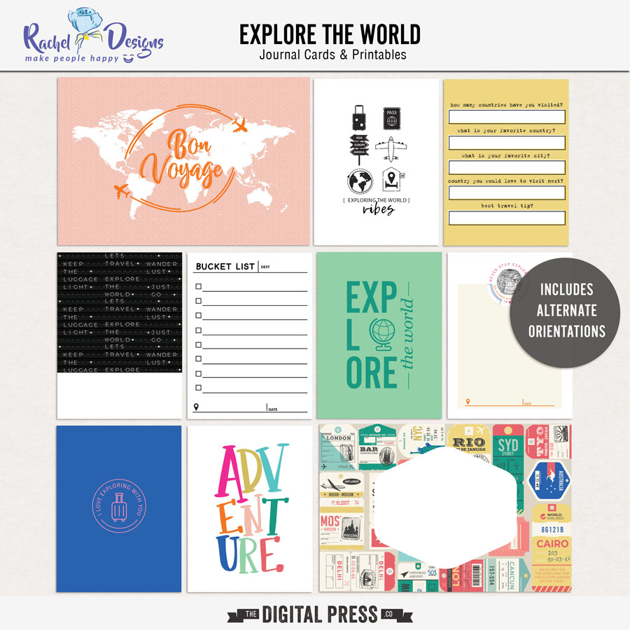 Explore The World | Pocket Cards