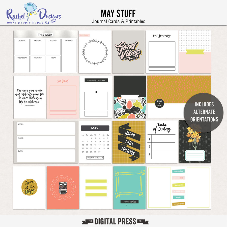 May Stuff | Journal Cards