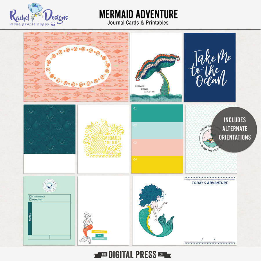 Mermaid Adventure | Pocket Cards