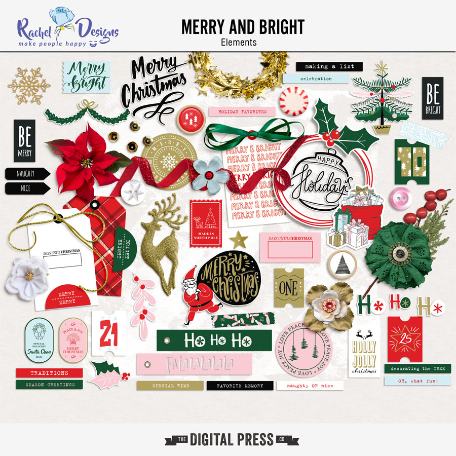 Merry And Bright | Elements