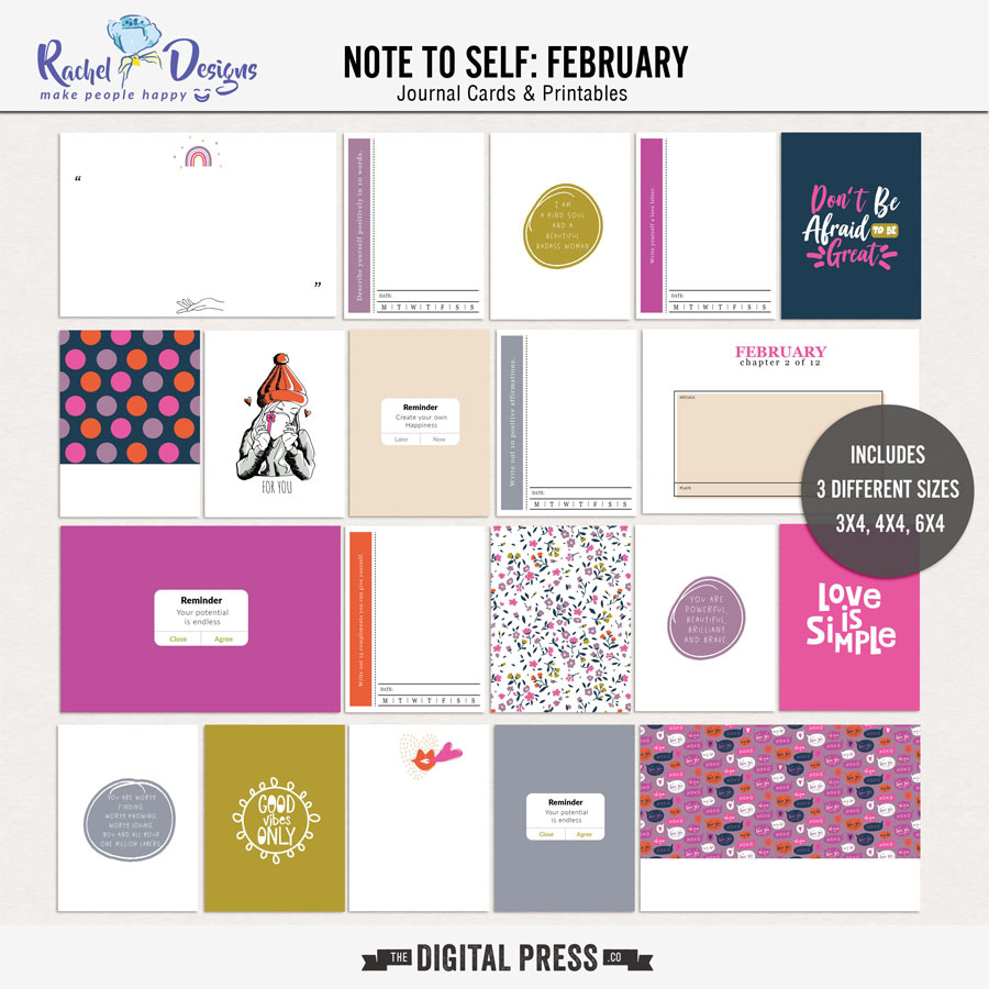 Note To Self February | Pocket Cards
