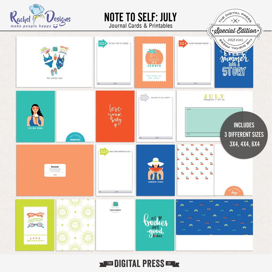 Note To Self July | Pocket Cards