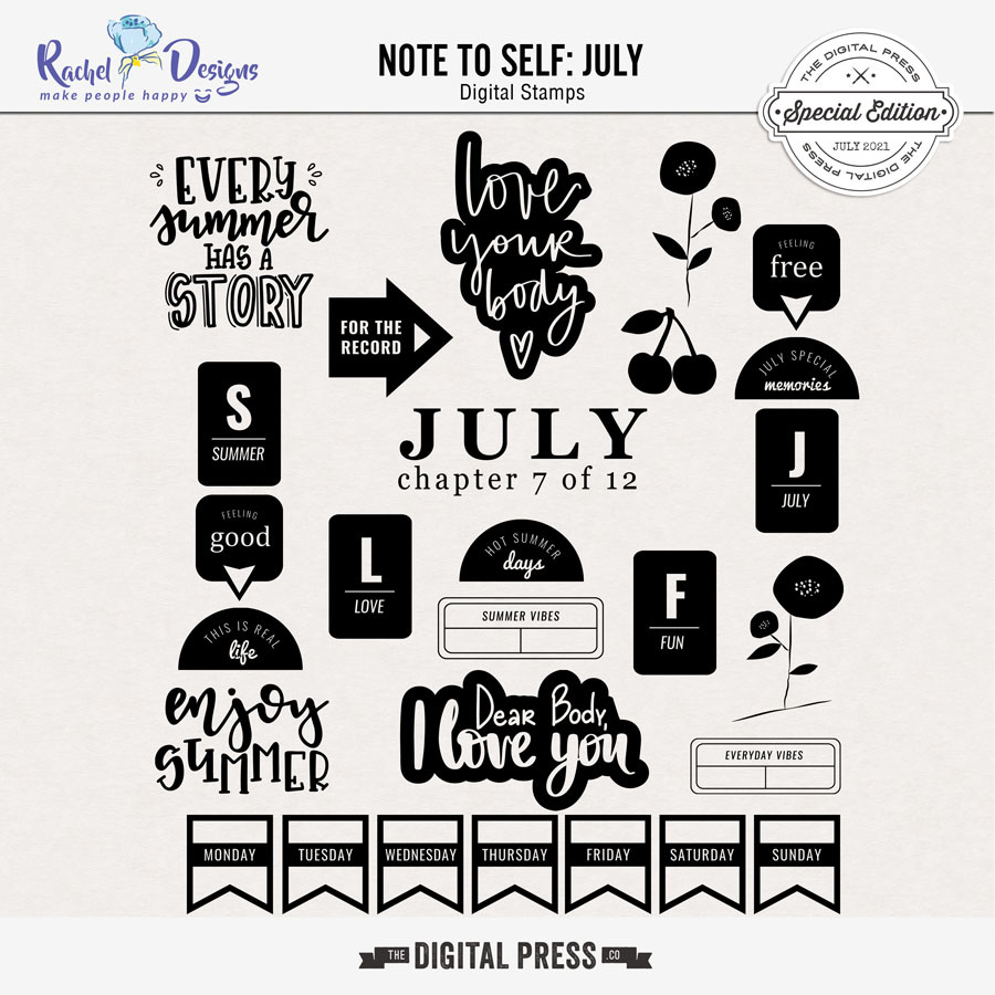 Note To Self July   Stamps