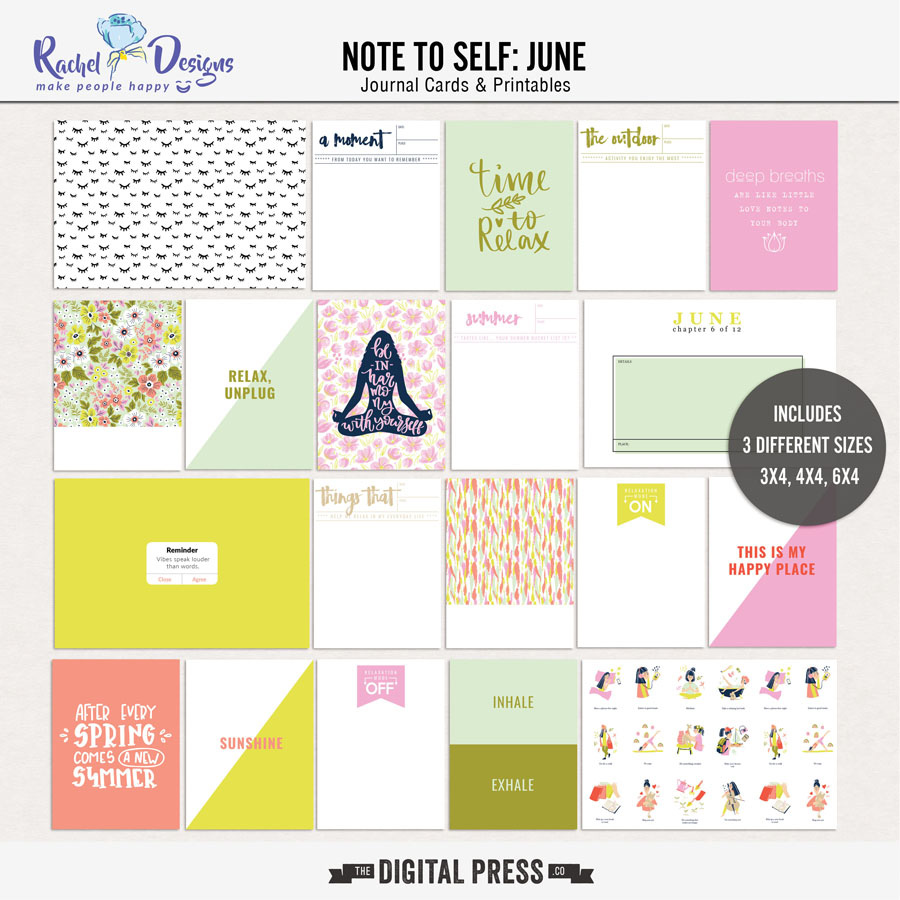 Note to Self: June   Pocket Cards