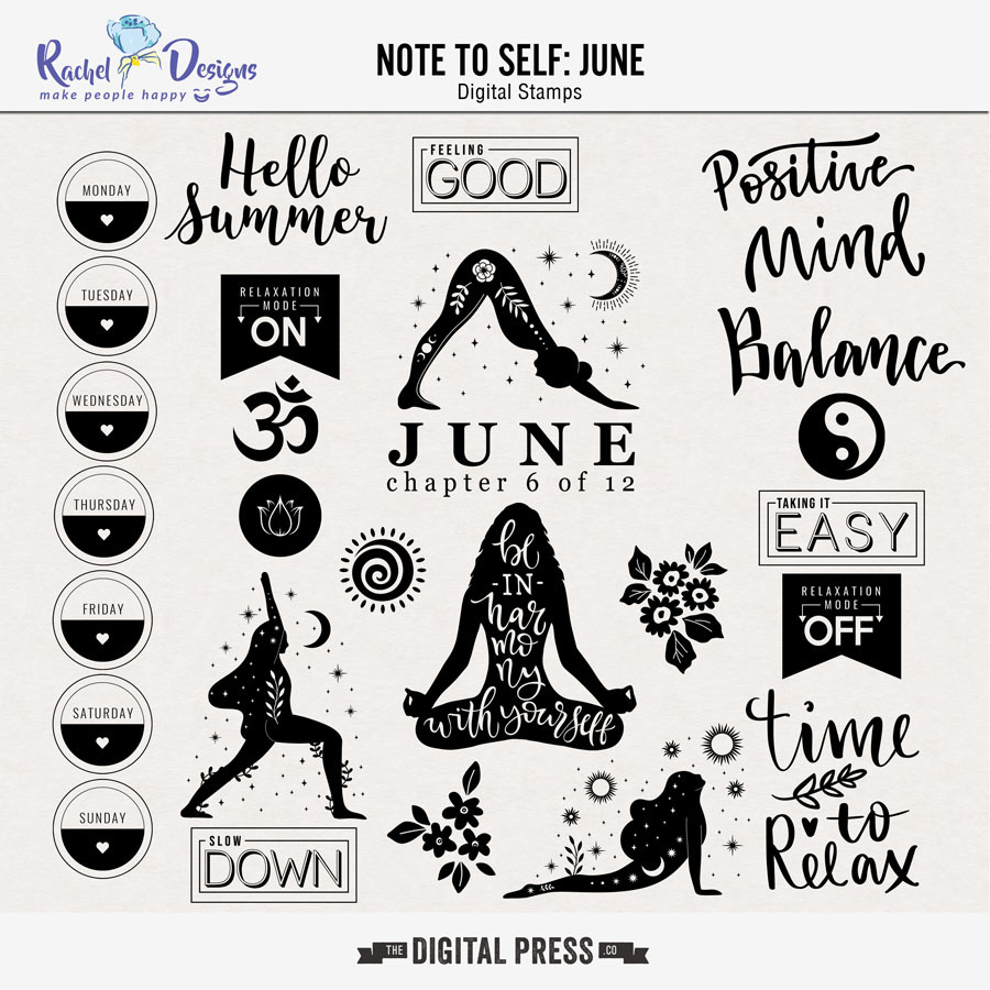 Note to Self: June | Stamps