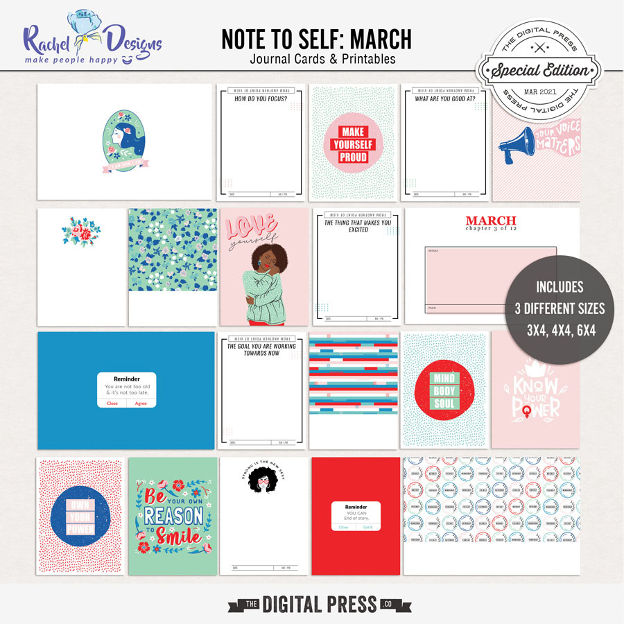 Note To Self March | Pocket Cards
